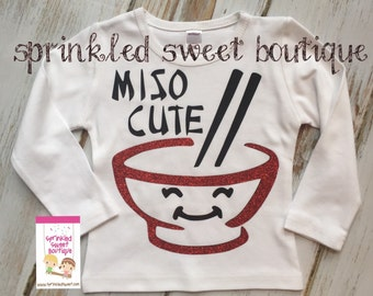 Miso Cute Girls Glitter or Boys Non Glitter Valentines Day Custom Short Sleeve or Long Sleeve Shirt Can Customize Colors