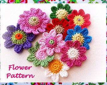 Wonderful Crochet Flower Pattern
