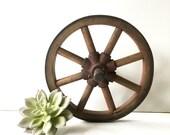 Vintage Industrial Wooden Wheel