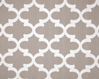 1 Yard Fynn Ecru White - Trellis, Quatrefoil, Lattice, Moroccan,- Premier Prints -  Home Decor Taupe Tan Beige