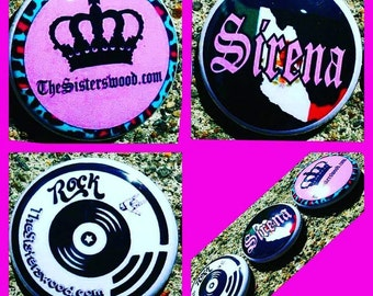 1 PIN your choice Sirena, Rock and Roll, or Crown The Sisterswood