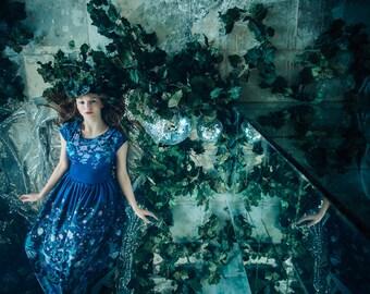 Night Waterlily - maxi dress