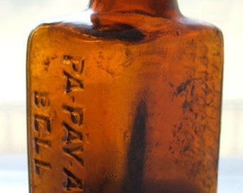 Unusual small PA PAY ANS Bell antique 1800's medicine bottle from Orangeburg N. Y.