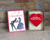 1957 Valentine box with wind-up heart - vintage Valentine - To My Sweetheart box with beating heart - H Fishlove & Co.