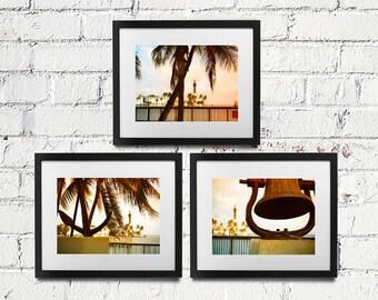 SAVE 20% - Inlet View Series Set of 3 Prints - Ocean Beach Lighthouse Nautical Coastal Seaside Wall Art Photography - 8x10 11x14 16x20