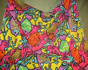 Tropical Fish Vacation Fabric Jewel Colors