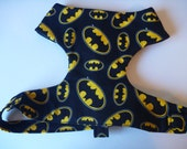 """Batman Soft Dog Harness-Black & Yellow Harness """"Batman"""" - Soft on Your Dogs Skin - Available in all Fabrics Liste"""