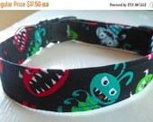 "Sale 50% Off Halloween Dog Collar - ""Monsters"""