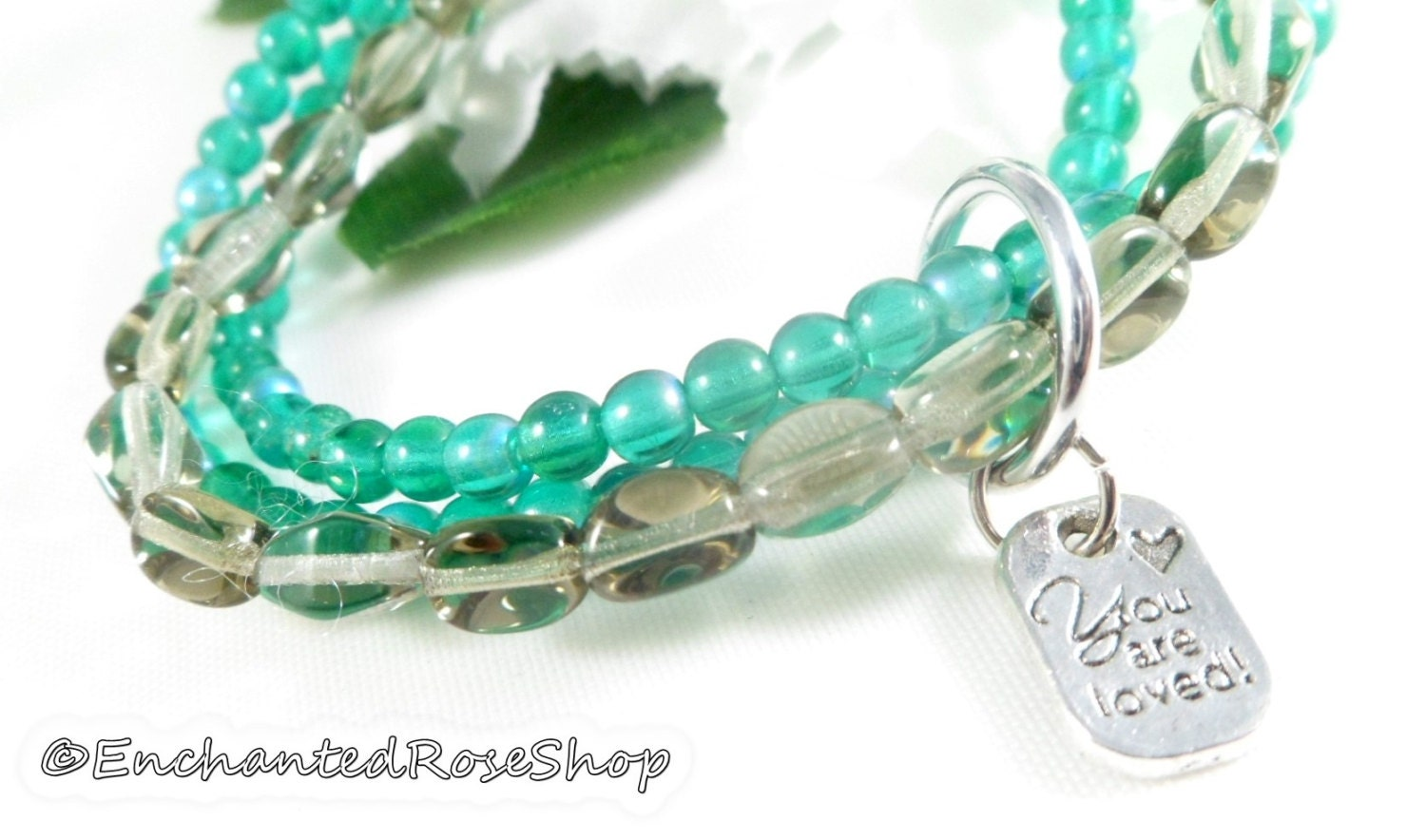 how to make a three strand beaded bracelet