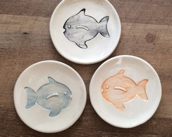 Fish Ring Dish, Cat Treat Dish, Fish Ring Bowl, Cat Treat Bowl, new cat Gift,Kitty Treat Dish, Christmas gift for Cat, Unique Cat Owner Gift