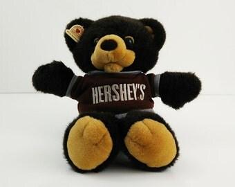Hershey's Teddy Bear / 1987 Heartline Plush / Hallmark Hershey Candy Tshirt
