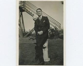 "Vintage Snapshot Photo: ""Georgie & Sammie,"" c1920s (68488)"