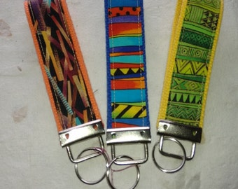 Colorful KeyFob Wristlets - by Painted Threads