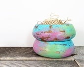 Little Storage Bowls - 2 - Turquoise Green Pink - Modern Chic