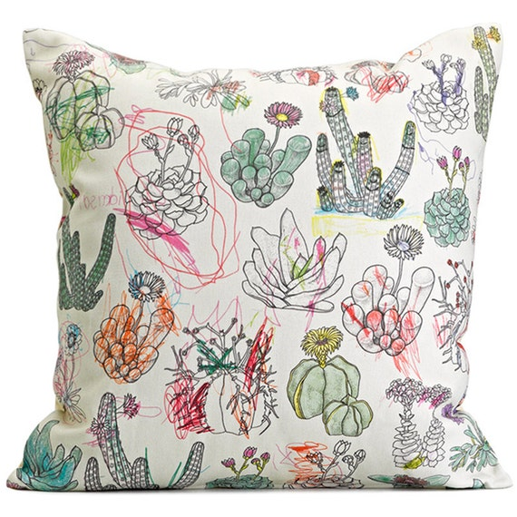 Picturebook West Coast Succulents Cushion Cover