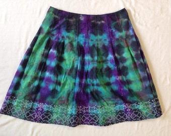 Funky Tie Dye Women's Skirt size 12 W220