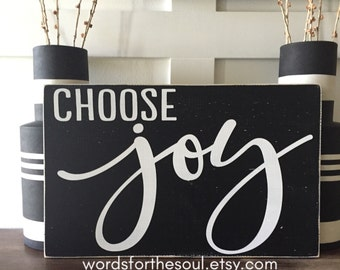 Choose JOY - Insprational Wall Art - Wood Signs - Scripture Wall Art  - Christian Wall Art - Be Joyful - Wall Decor - wooden signs - inspire