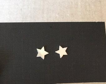Tiny Star Earrings - Sterling Silver Post Earrings