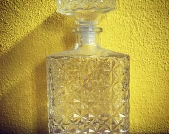3 vintage antique glass bottles