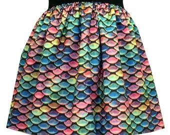 Multi-colored Scales Full Skirt