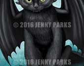 Toothless Cat Postcard