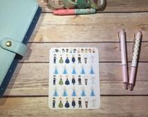 Frozen Planner Stickers ~ Disney Inspired | Life Planner | EC | Erin Condren | Limelife | Inkwell | Plum | Kikki | Decorative | Character |