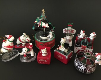Vintage 9 Coca Cola Christmas Holiday