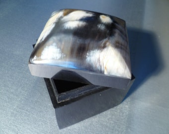 Vintage Bone Horn Box Trinket