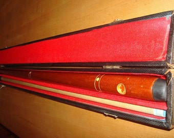 Vintage Dufferin Canadian 21oz Maple Leaf Pool Cue / Pool Stick / Billiard Cue With Original Case