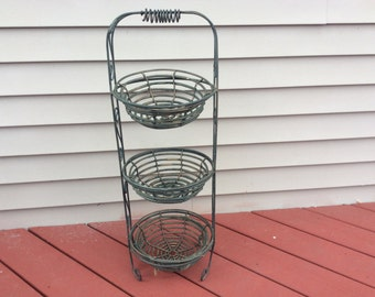 Rustic 3 tier basket