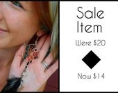 SALE item - Was 20USD now 14USD - Fire Charmer Dream Catcher Earrings with Hand Gathered Feathers by The Emerald Lotus