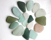 sea glass jewelry quality pink green aqua beach seaglass jewellery supplies art&craft supply vintage beads necklace (310)