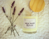 Breastfeeding Soy Candle - sweet pea + vanilla by the Milk Maid & Babe