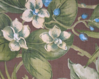 OUTDOOR Pillow Cover / Brown Pillow Cover / Floral Print / Brown and Lime / Pillow Cover