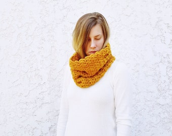 Crochet PATTERN- The Wanderlust Cowl- Crochet Lacy Cowl Pattern