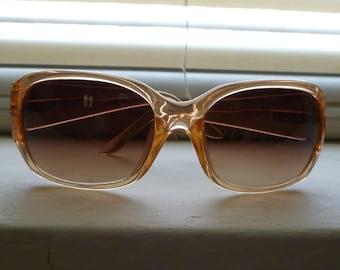 Retro Orange Sunglasses, Joan Rivers Collection