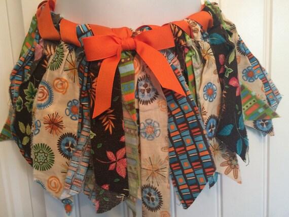 SALE! Scrap Fabric Tutu Skirt - Harvest/Hallowenn Orange Regularly 20.00 dollars