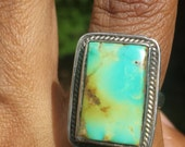 Natural Turquoise Ring Sterling Silver