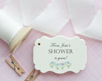 Favor Tags - From my shower to yours - Soap Favors - Gift Tags - Bridal Shower Favor Tags - Baby Shower Favor Tags - Set of 40
