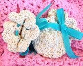 Crocheted Baby Mittens, Newborn to 6 Month Mittens, Thumbless Baby Mittens