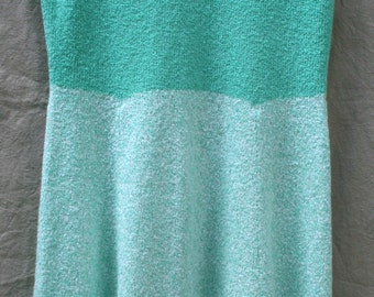 Sleeveless Color Block Sweater Dress