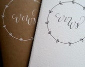 Wedding Vows Booklet, Blank, Our Greatest Adventure, Calligraphy