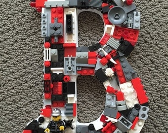 Custom Fireman Toy Brick  Letter, Specialty