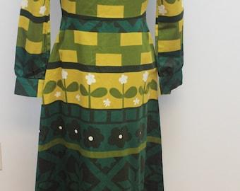 Retro - fitted maxi hippie dress by Kaisu Heikkilä Oy, Finland