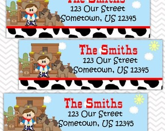 Cowboy - Personalized Address labels, Stickers