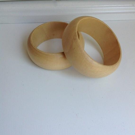 8 Unfinished Wood Cuffs, supplies
