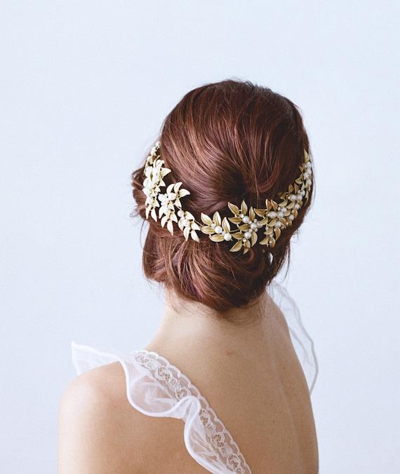 ELLWOOD Gold Leaf Headpiece