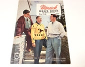 Vintage Knitting Book, Monarch Men's Book of Hand Knits, Classic Retro Fashion, 1950s, Excellent Condition