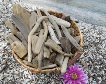 "Driftwood, 75 Driftwood Pieces Approximately 2""-12"", Drift Wood Supplies for Crafts, Driftwood Art, Beach Wedding Decor, Lake House Decor"
