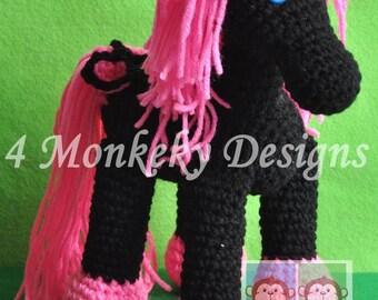 Crochet horse or unicorn